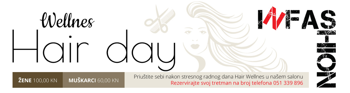 Wellnes Hair day - Priuštite sebi nakon stresnog radnog dana Hair Wellnes u našem salonu...